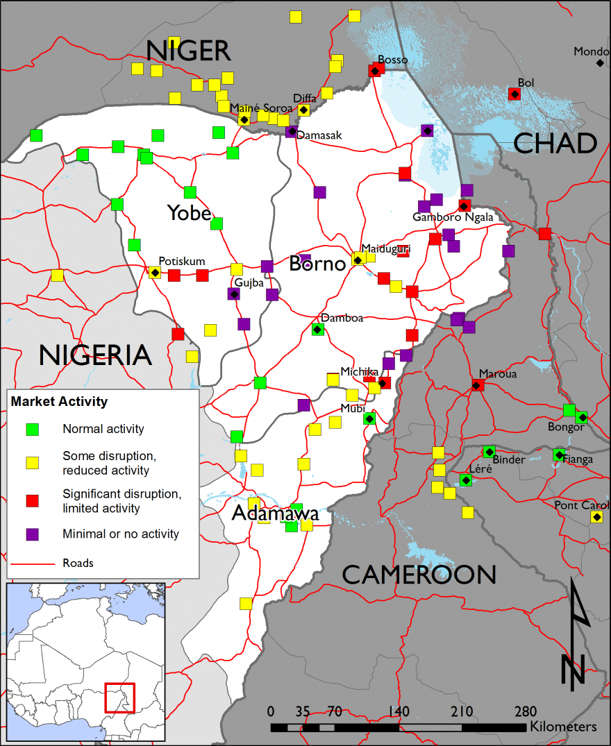 Figure 3.  Northeast Nigeria market activity – week of July 13, 2015