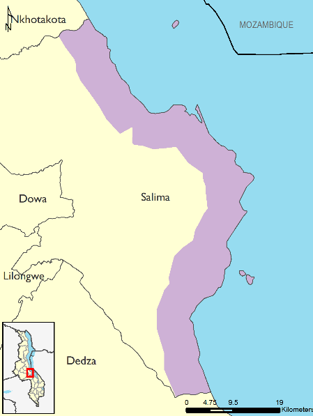 Figure 4.  Reference map for Salima District