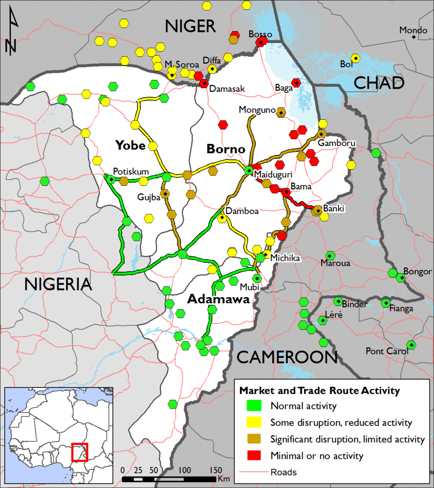 Figure 6. Lake Chad Region market and trade route activity – week of February 6th 2017