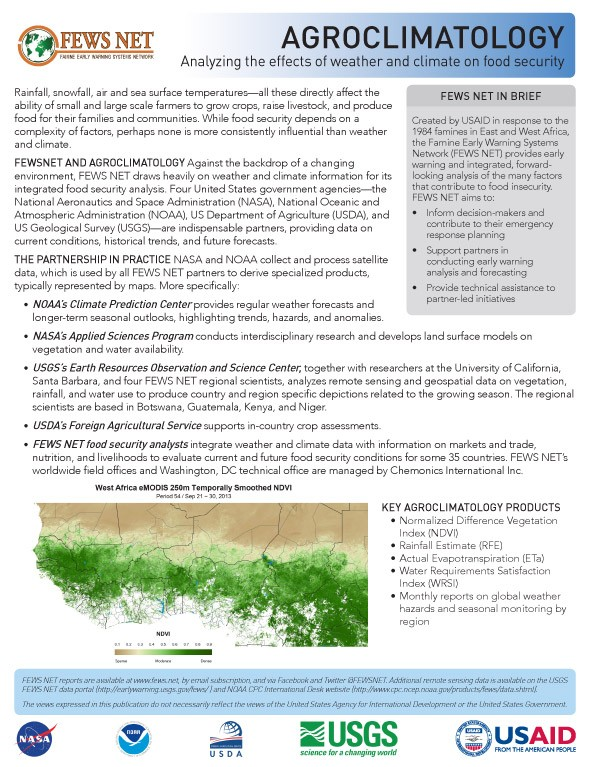 One Pager Agroclimatology