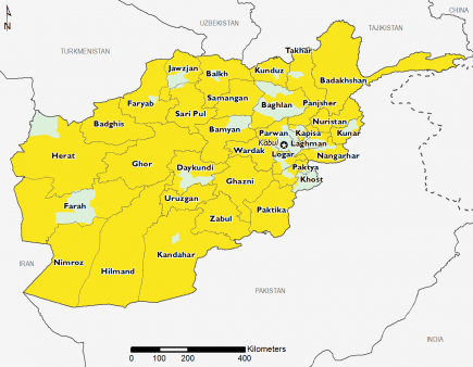 Afghanistan October 2016 Food Security Projections for October to January