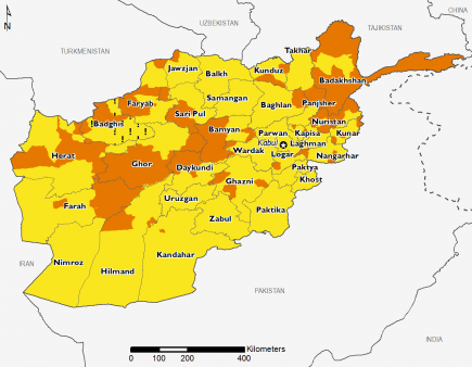 Afghanistan October 2016 Food Security Projections for February to May