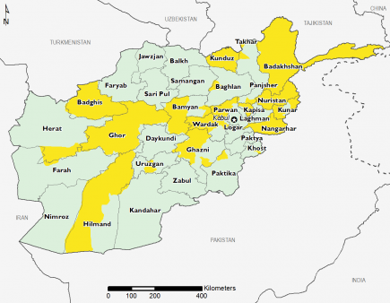 Afghanistan September 2016 Food Security Projections for September