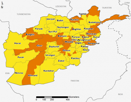 Afghanistan September 2016 Food Security Projections for October to January
