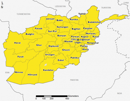 Afghanistan April 2016 Food Security Projections for April to May