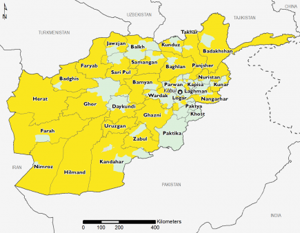 Afghanistan April 2016 Food Security Projections for June to September