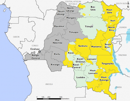 Democratic Republic of Congo December 2016 Food Security Projections for December to January