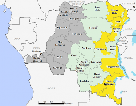 Democratic Republic of Congo December 2016 Food Security Projections for February to May