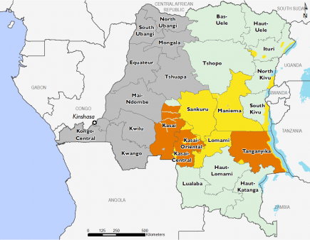 Democratic Republic of Congo July 2017 Food Security Projections for July to September
