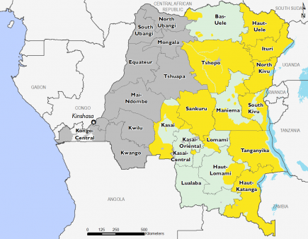 Democratic Republic of Congo October 2016 Food Security Projections for October to January