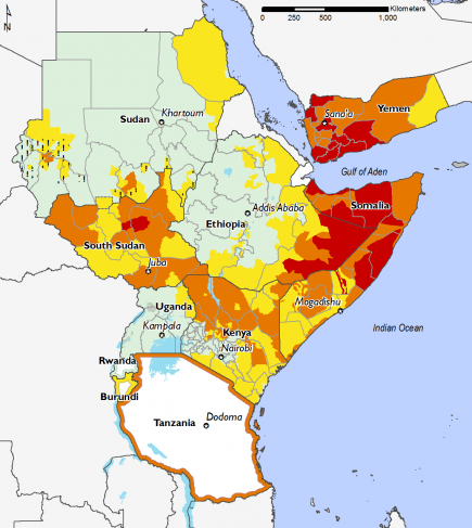East Africa, Food Security, October 2016 to January 2017