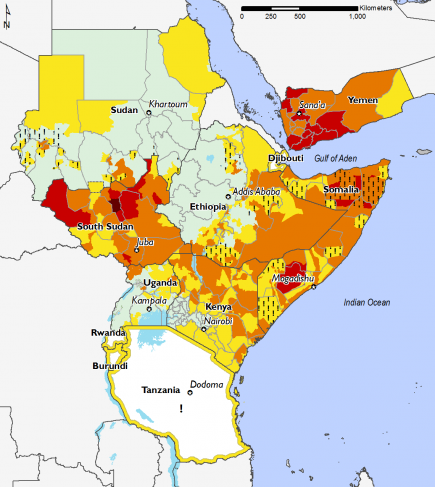East Africa, Food Security, February 2017 to May 2017