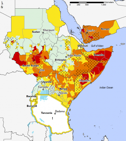 East Africa, Food Security, May 2017