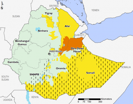 Ethiopia December 2016 Food Security Projections for December to January