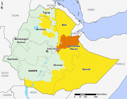 Ethiopia August 2016 Food Security Projections for October to January
