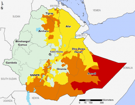 Ethiopia August 2017 Food Security Projections for August to September