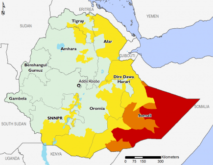 Ethiopia August 2017 Food Security Projections for October to January