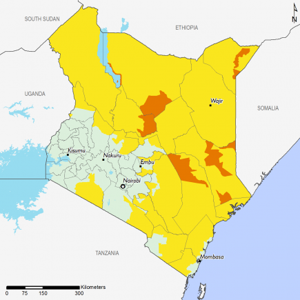 Kenya December 2016 Food Security Projections for December to January
