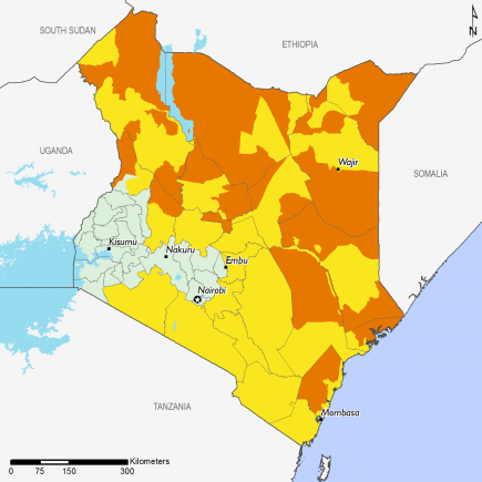 Kenya February 2017 Food Security Projections for February to May