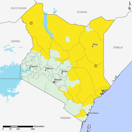 Kenya ML1 map for February 2019 outlook
