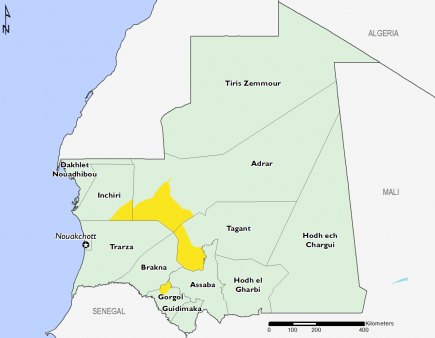 Mauritania April 2016 Food Security Projections for June to September