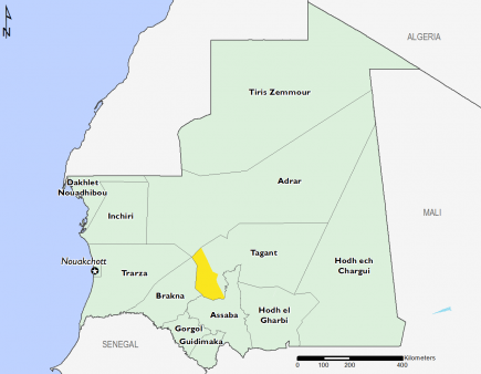 Mauritania October 2016 Food Security Projections for October to January