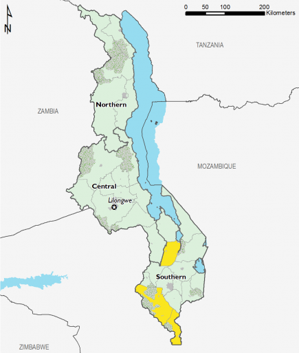 Malawi August 2017 Food Security Projections for August to September