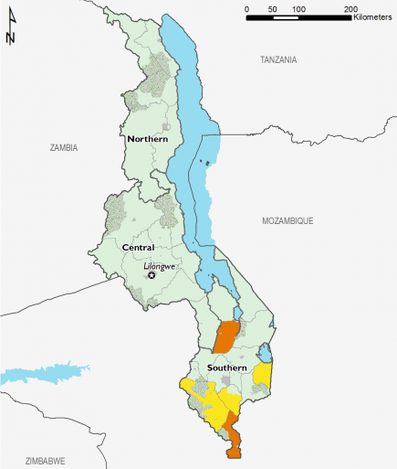 Malawi August 2017 Food Security Projections for October to January