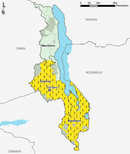 Malawi February 2017 Food Security Projections for February to May