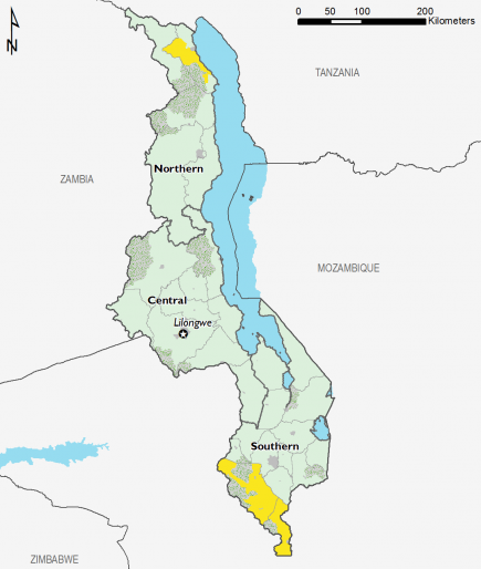 Malawi February 2017 Food Security Projections for June to September