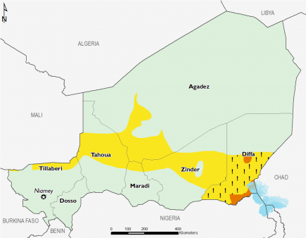 Niger June 2016 Food Security Projections for June to September
