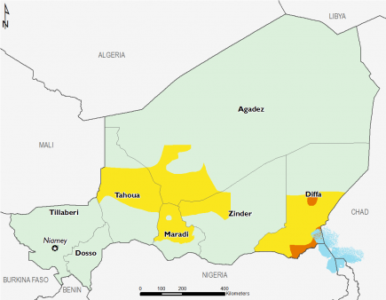 Niger December 2016 Food Security Projections for February to May