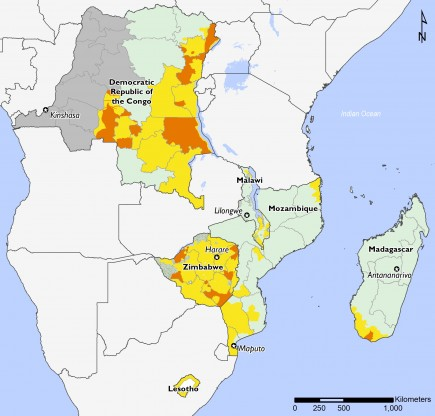 Southern Africa June to September 2019 food security projections