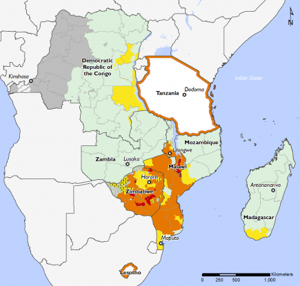 Southern Africa November 2016 Food Security Projections for February to May