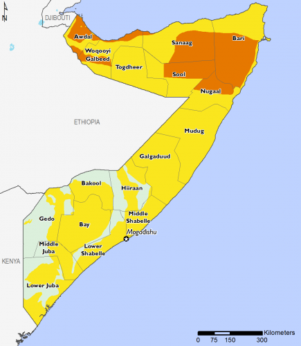 Somalia April 2016 Food Security Projections for April to May