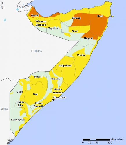 Somalia April 2016 Food Security Projections for June to September