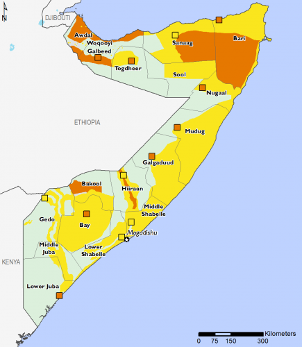 Somalia July 2016 Food Security Projections for July to September