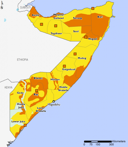 Somalia October 2016 Food Security Projections for February to May
