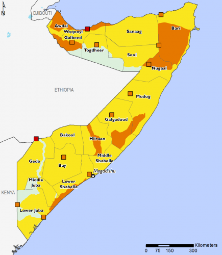Somalia September 2016 Food Security Projections for September