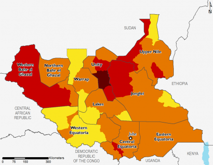 South Sudan February 2017 Food Security Projections for February to May