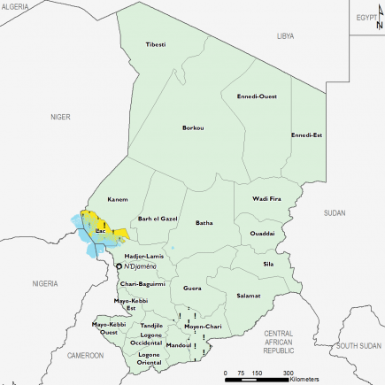 Chad August 2016 Food Security Projections for October to January