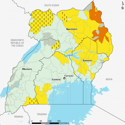Uganda May 2017 Food Security Projections for May