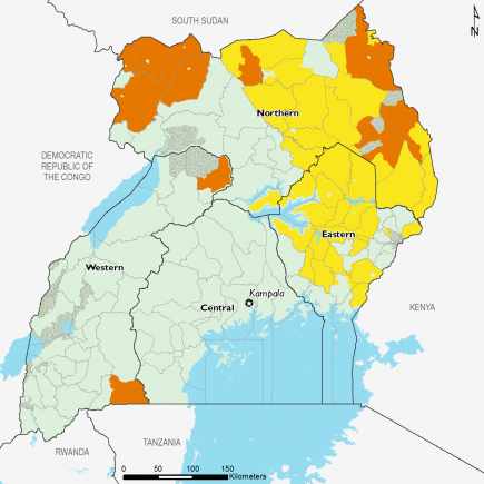Uganda May 2017 Food Security Projections for June to September
