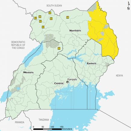 Uganda June 2017 Food Security Projections for June to September