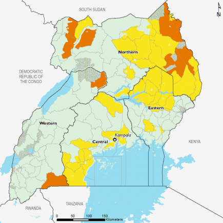 Uganda December 2016 Food Security Projections for February to May