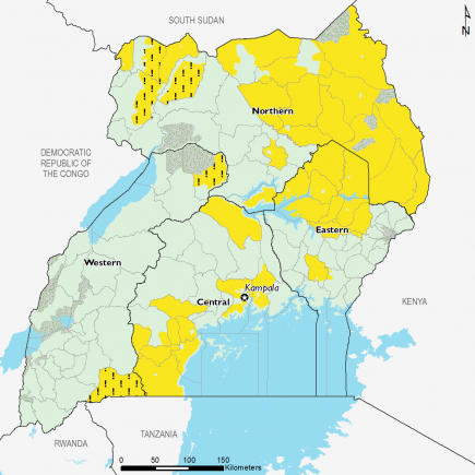 Uganda November 2016 Food Security Projections for November to January