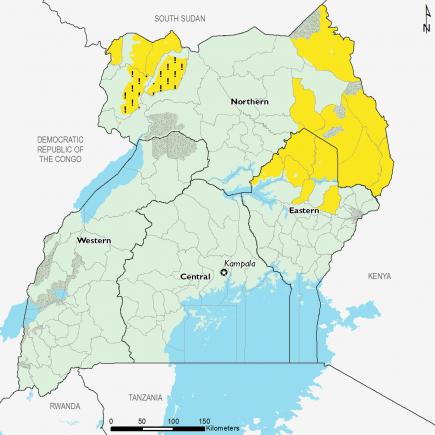 Uganda October 2016 Food Security Projections for October to January