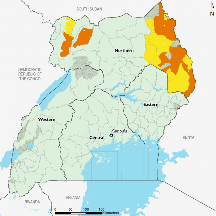Uganda October 2016 Food Security Projections for February to May