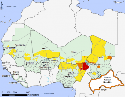 West Africa, Food Security, June to September 2017