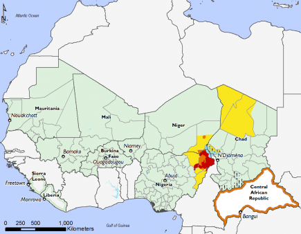 West Africa, Food Security, October 2016 to January 2017